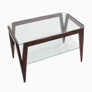 Mesa de centro de vidrio, años 50
