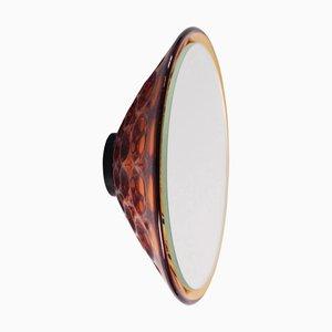 Specchio da parete Saturn 155a ambrato di Andreas Berlin, 2019