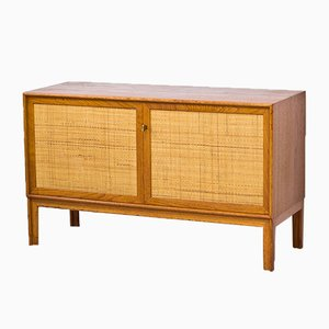 Vintage Swedish Teak & Rattan Sideboard by Alf Svensson for Bjästa, 1960s