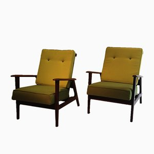 Vintage Easy Chairs by Louis van Teeffelen for WéBé, 1950s, Set of 2
