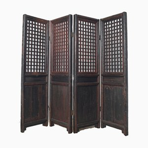 Antique Chinese Wooden Room Divider