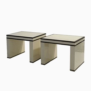French Lacquered Nightstands from Maison Jansen, 1970s, Set of 2