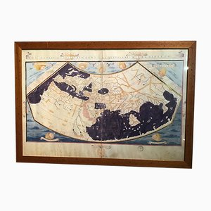Vintage Ptolemy's World Map from Biblioteca Apostolica