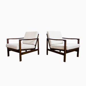 Vintage B-7752 Easy Chairs by Zenon Bączyk, 1960s, Set of 2