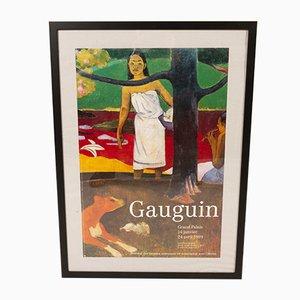 Póster de una exposición de Gauguin vintage, 1989