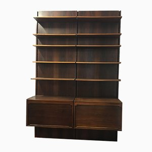 Mid-Century Italian Rosewood Bookcase by Gianfranco Frattini for Bernini