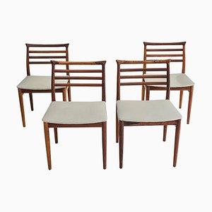 Chaises de Salon en Bois de Jacaranda par Erling Torvits de Sorø Stolefabrik, années 60, Set de 4