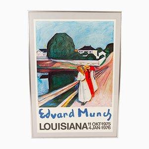 Póster de exposición de Edvard Munch vintage, años 70