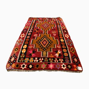 Tapis Kilim Vintage, Turquie, années 60