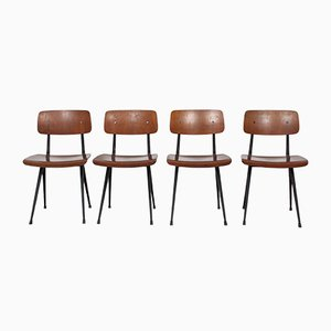 Mid-Century Result Chairs by Friso Kramer for Ahrend De Cirkel, 1960s, Set of 4