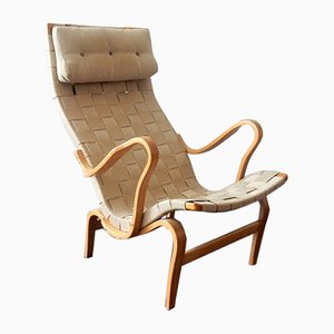 Swedish Model Pernilla Birch Lounge Chair by Bruno Mathsson for Dux, 1960s