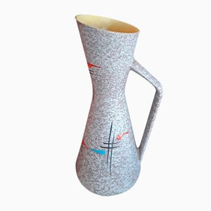 Vintage Light Grey Ceramic Model Foreign 272 38 Floor Vase from Scheurich, 1950s