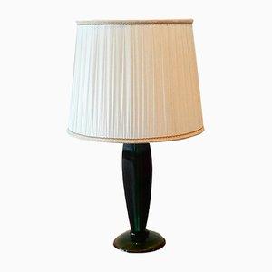 Italienische Tischlampe aus Muranoglas von Flavio Poli für Seguso, 1960er