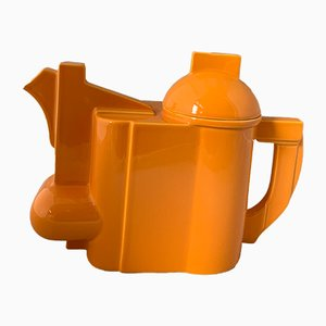 Modernist Orange Ceramic Teapot by Kazimir Malevich for Cleto Munari, 2000s