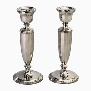 Bougeoirs en Argent Sterling de Northern Goldsmiths Co, 1927, Set de 2