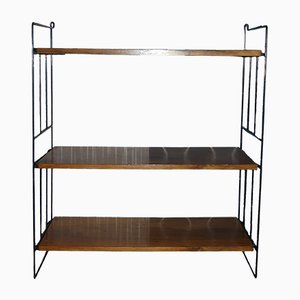 Mid-Century Walnut Wall Shelving Unit