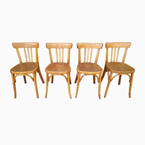 Vintage Bistro Chairs from Fischel, 1950s, Set of 4