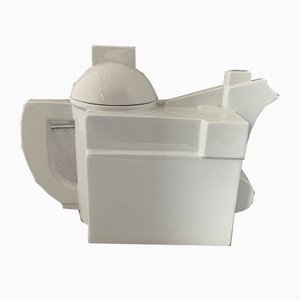 Modernist White Ceramic Teapot by Kazimir Malevich for Cleto Munari, 2000s