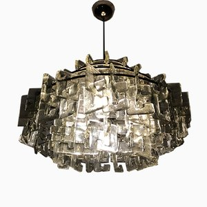 Vintage Glass Chandelier by Carlo Nason for Mazzega, 1960s