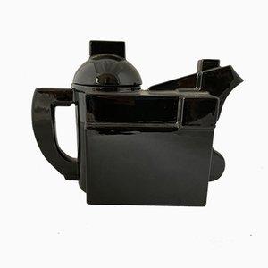 Tetera moderna de cerámica negra de Kazimir Malevich para Cleto Munari, década de 2000