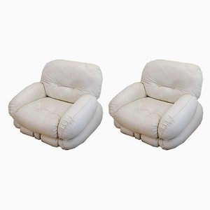 Vintage Lounge Chairs by Adriano Piazzesi, 1970s, Set of 2