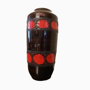 Dunkelbraune westdeutsche Vase von Scheurich, 1970er