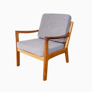 Danish Teak Senator Lounge Chair by Ole Wanscher for Poul Jeppesens Møbelfabrik, 1960s