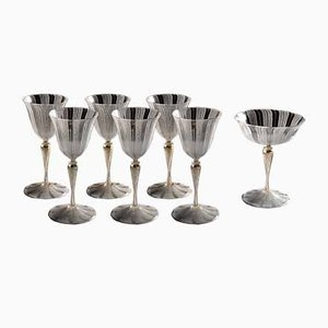 Antique Murano Glass Goblets & Ewer Set