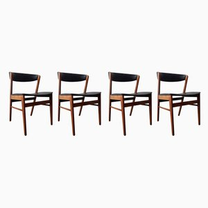 Vintage Danish Dining Chairs, Set of 4