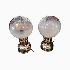 Lámparas de mesa era espacial vintage de Mazzega para Mazzega, años 60. Juego de 2