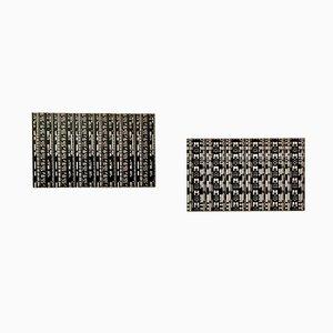 Gravures Sign-Gestalt No. 105 & 94 sur Aluminium par Giovanni Pizzo, années 70, Set de 2