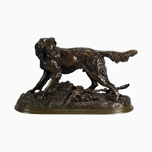 Antique Dog Sculpture by Jules Moigniez