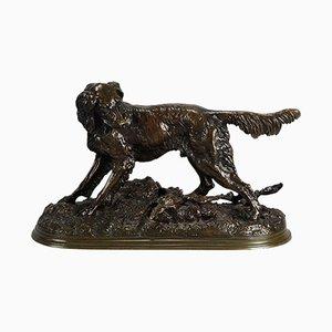 Antique Dog Sculpture by Jules Moigniez