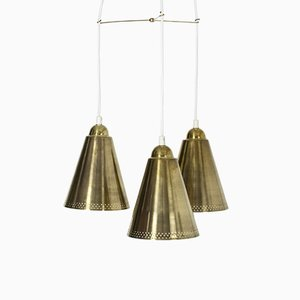 Swedish Brass Pendant Lamp, 1950s