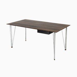 Schreibtisch aus Stahl & Palisander von Arne Jacobsen für Fritz Hansen, 1960er
