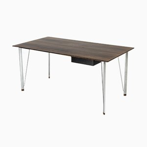 Steel and Rosewood Desk by Arne Jacobsen for Fritz Hansen, 1960s