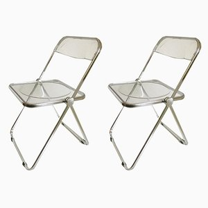 Folding Chairs by Giancarlo Piretti for Castelli / Anonima Castelli, 1970s, Set of 2