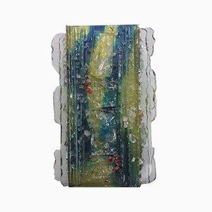 Mehrfarbige Wandleuchte aus Glas von Wilem van Oyen für Raak, 1960er
