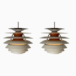 Lámparas colgantes modelo Kontrast de Poul Henningsen para Louis Poulsen, años 60. Juego de 2