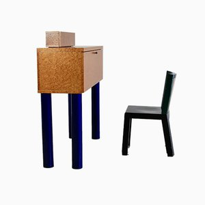 Postmodern Donau Secretaire & Chair Set by Ettore Sottsass & Marco Zanini for Franz Leitner, 1986