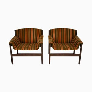 Armchairs by Tito Agnoli for La Linea, 1950s, Set of 2