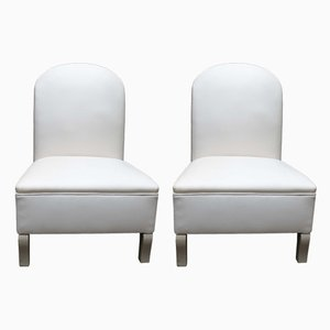Vintage French Fireside Chairs, Set of 2