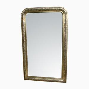 Antiker Spiegel mit Silberrahmen