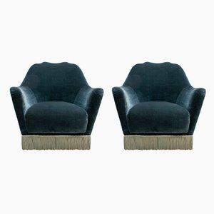 Moderne Mid-Century Sessel von Gio Ponti für Casa e Giardino, 1950er, 2er Set