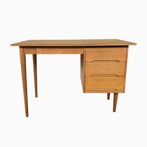 Vintage Scandinavian Oak Desk, 1950s