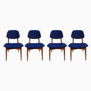 Mid-Century Esszimmerstühle aus Buche, 4er Set