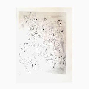 Au Bal Etching by Jules Pascin, 1927