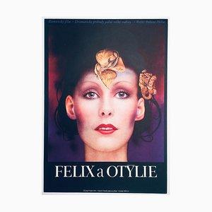 Poster vintage del film Felix e Otilia di Josef Vyleťal, 1972