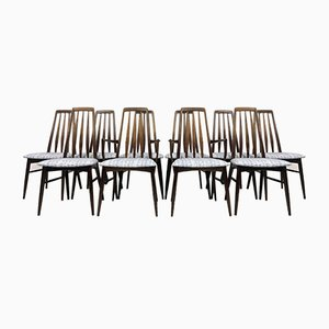 Chaises de Salon Eva en Palissandre par Niels Koefoed pour Koefoeds Hornslet, années 60, Set de 10