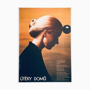 Poster del film Escapes Home vintage di Olga Poláčková-Vyleťalová, anni '80